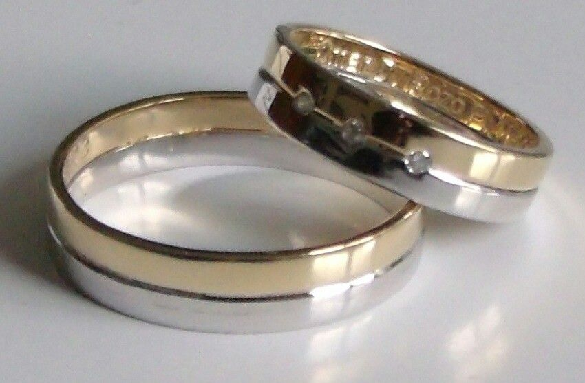 Anillos Matrimonio Oro Blanco Y Amarillo Wedding Rings Engagement Rings Gold Rings