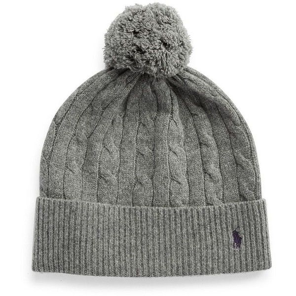 6314b532750 Polo Ralph Lauren Merino Wool and Cashmere Beanie ( 36) ❤ liked on Polyvore  featuring accessories