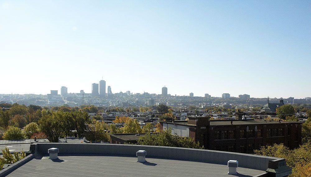 vue de la ville du toit au campus de qu bec le c gep en images pinterest avant garde dan. Black Bedroom Furniture Sets. Home Design Ideas