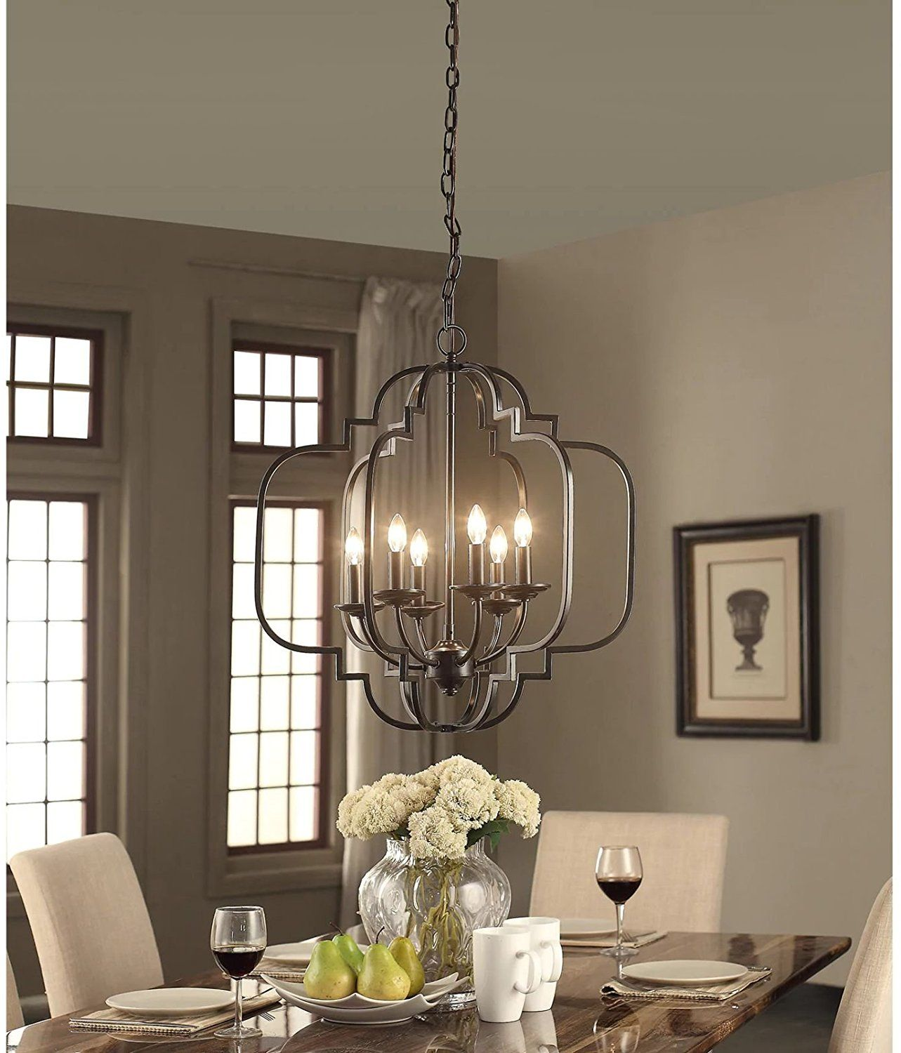 Modern Farmhouse Chandelier Suitable For Dining Rooms And Entryways With High Or Low Ceilings Cand Bronze Chandelier Farmhouse Chandelier Dining Room Lighting