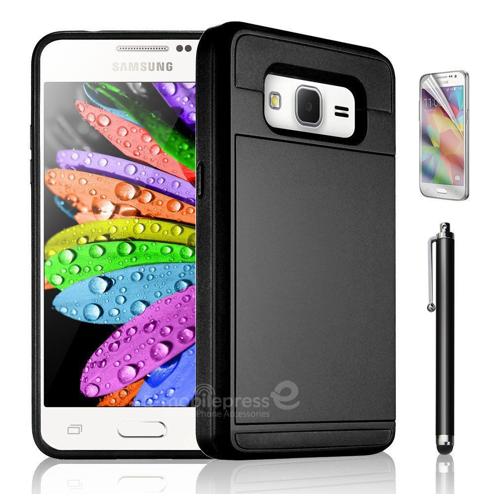 MPC Slide Wallet Galaxy Core Prime Case - Black