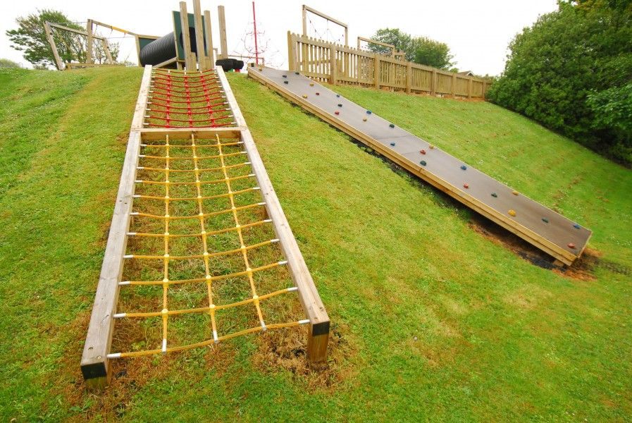 playground design on a slope | Embankment Net | Playline ...