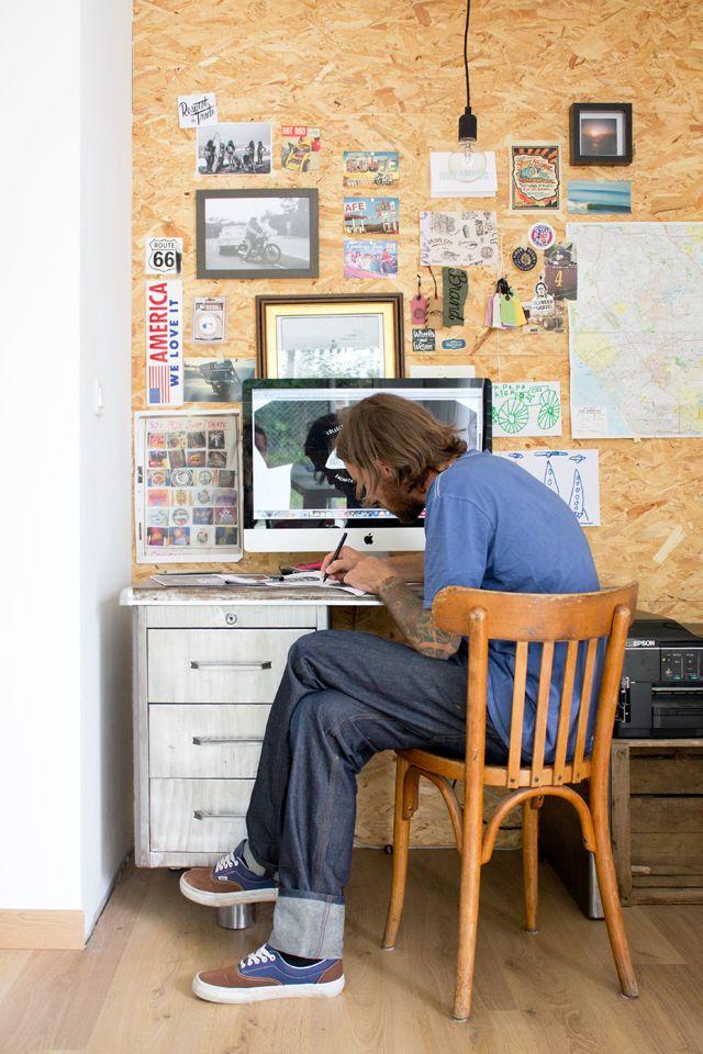 Bureau Planche De Bois Osb Pinterest Home Office Closet And