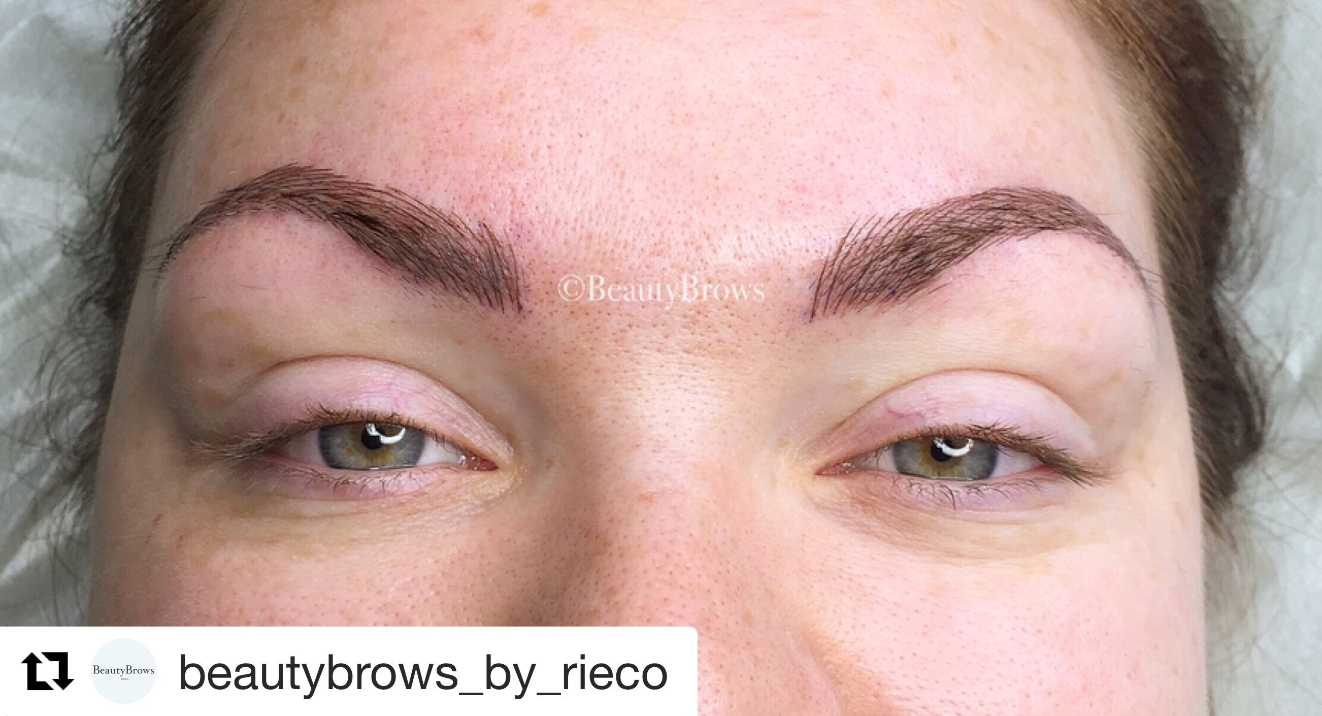Could you tell that these beautiful brows had old pigment