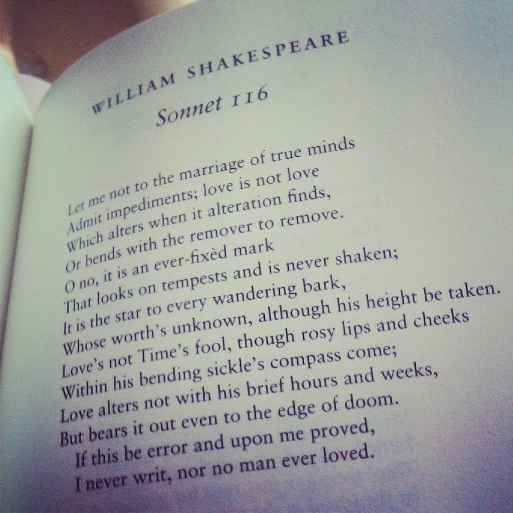 shakespeares definition of love in sonnet 116 essay In poetry essays  shakespeare's sonnet 116 is a closed form poem  sonnets  are also written in iambic pentameter, meaning that there are.