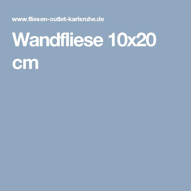 Wandfliese 10x20 cm