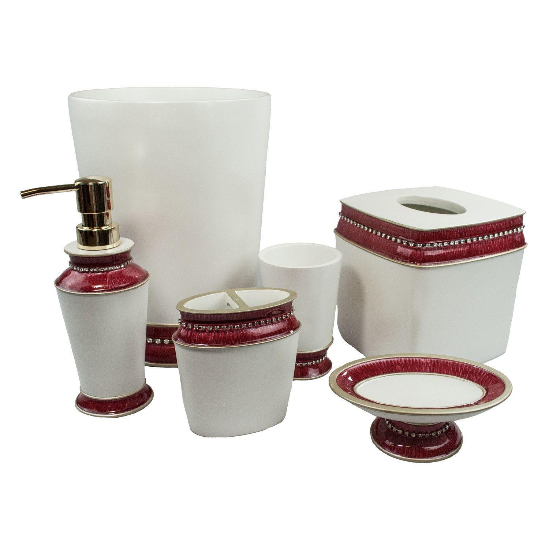 Elegantes badezimmerdekor victoria jewel piece bathroom accessory set  products  pinterest