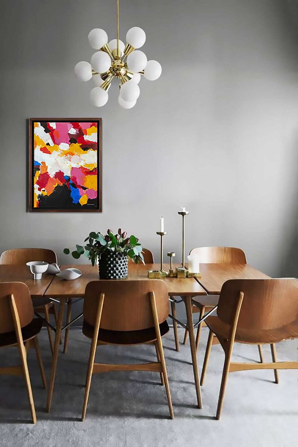 Table Chair Mid Century Modern Dining Table Furniture Interior