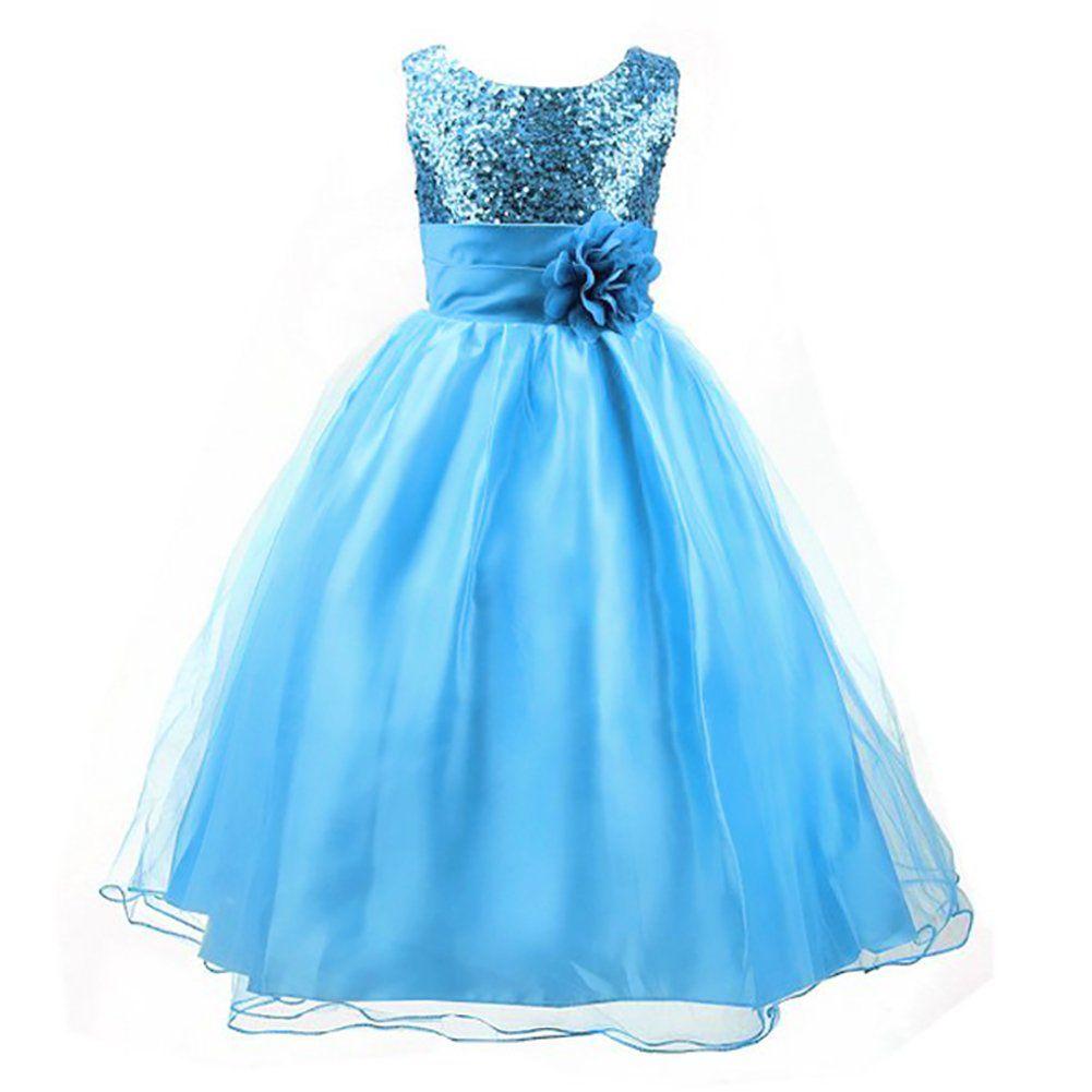 LPATTERN Summer Kids Baby Girls Tutu Tulle Flower Sequin Princess ...