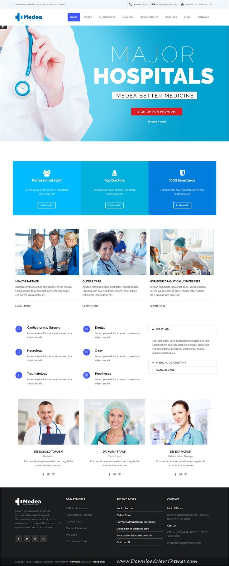 Medea Is Clean And Modern Design 6in1 Responsive Wordpressthemes For Hospitals Dental Clinic Laboratories Pharmaceuti Medical Theme Medical Dental Clinic