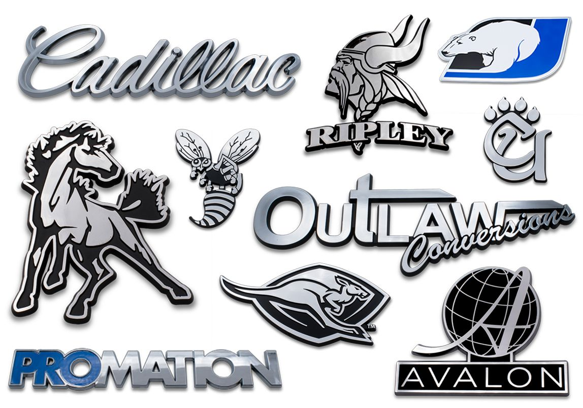 Elektroplate is a leading supplier of custom chrome-plated emblems
