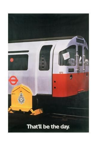 size: 24x16in Giclee Print: That'll Be the Day - Underground Railway Poster 1984 :