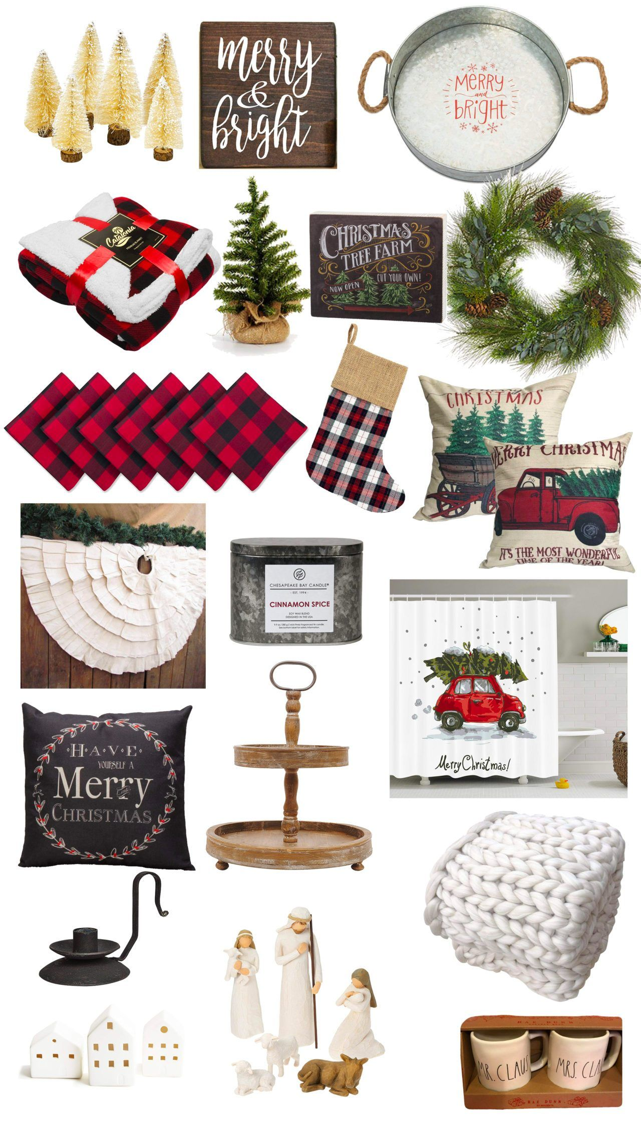 You Ll Love These Farmhouse Christmas Decor Finds From Amazon Christmas Decorations Amazon Christmas Christmas Farm