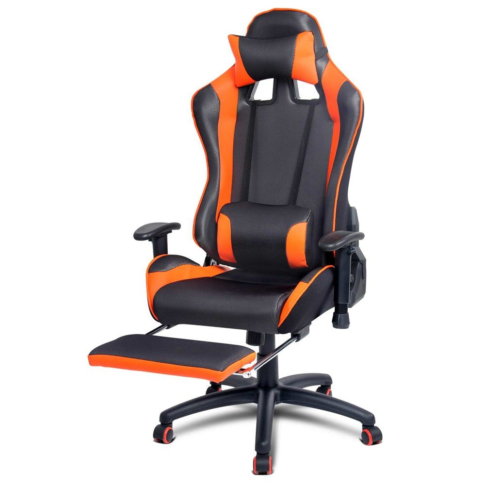 Gaming Chair for Games Racing Office Computer PU Leather Reclining – Office Chair Foot Rest