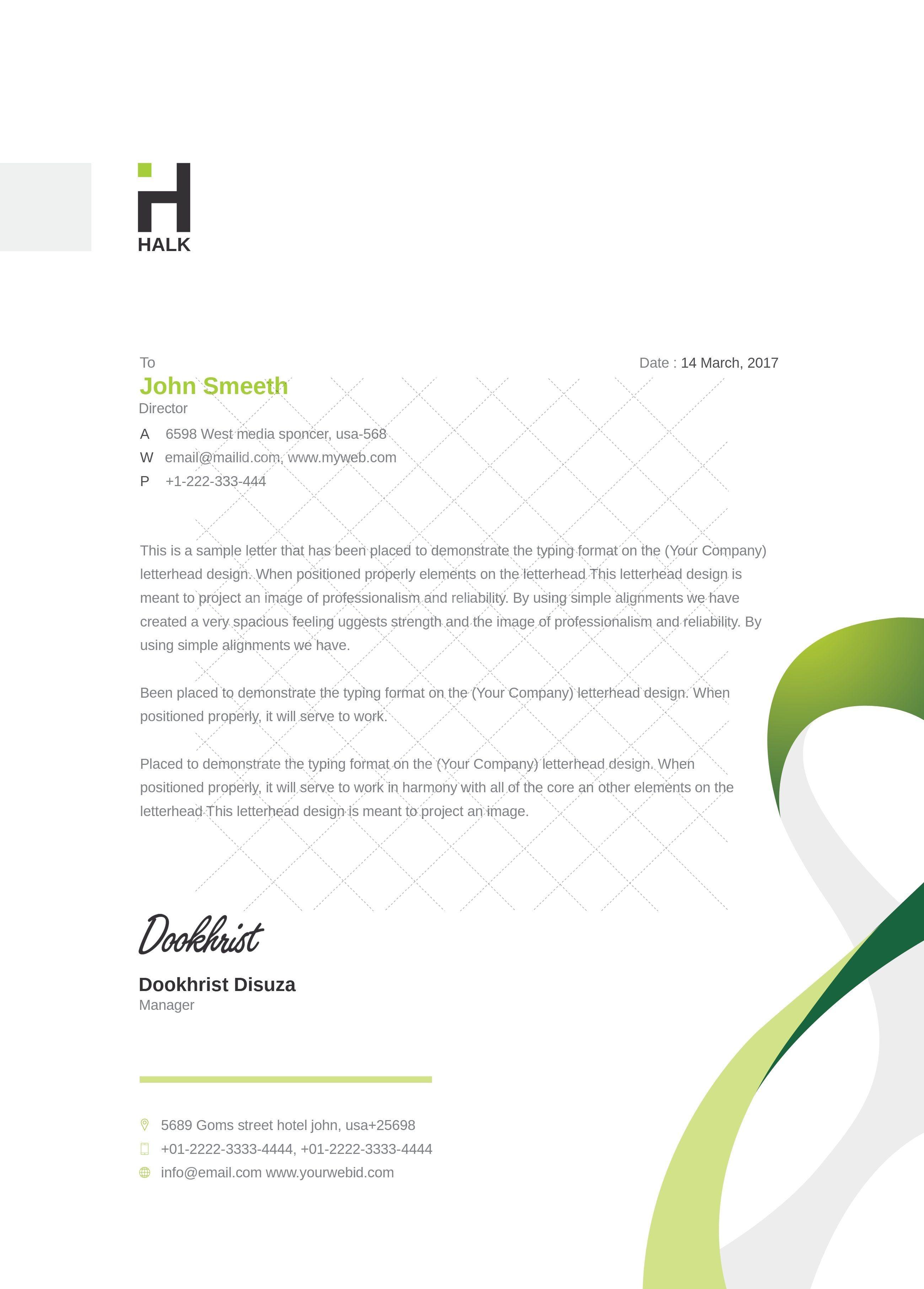 Carte De Visite Spiral Clean Letterhead Template Design Templates Business Cards