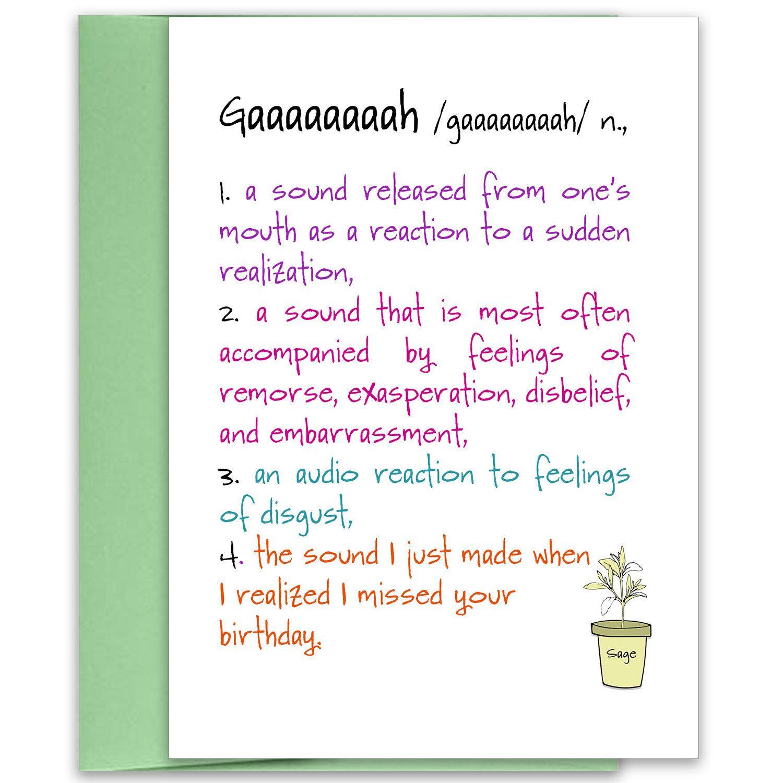 Gaaaaaaaah Belated Birthday Card For Friend Missed Birthday Card