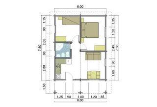 Fun casa 50 mq progetto progetti di case in legno casetta for Casa moderna di 50 mq
