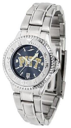 Pittsburgh PITT Panthers NCAA Womens Steel Anochrome Watch by SunTime. $86.95. Showcase the hottest design in watches today! The functional rotating bezel is color-coordinated to compliment your favorite team logo. The Competitor Steel utilizes an attractive and secure stainless steel band.The AnoChrome dial option increases the visual impact of any watch with a stunning radial reflection similar to that of the underside of a CD. Perceived value is increased with the ...