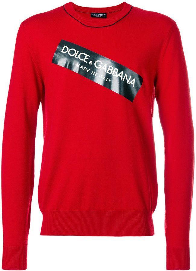 c96bbe7478927a Dolce & Gabbana logo patch sweater   Vestir elegante hombre   Dolce ...