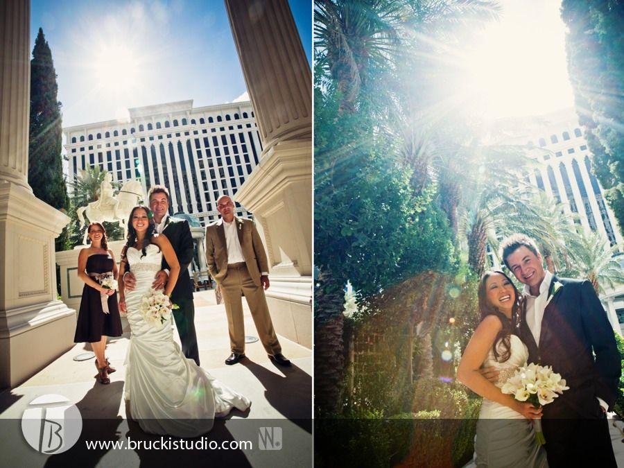 Las Vegas Wedding Photography at Caesar's Palace just