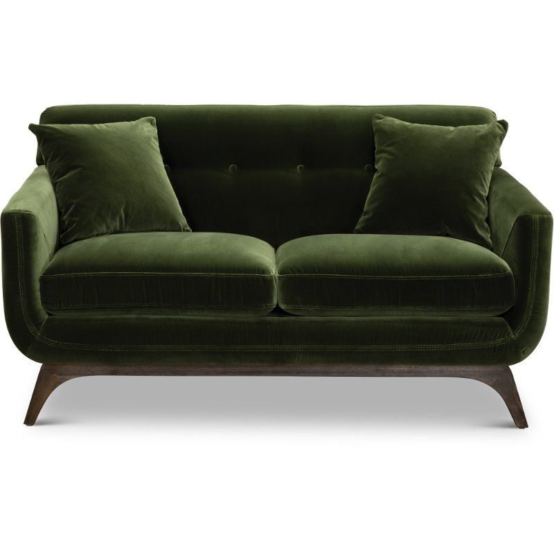 mid century modern olive green loveseat falkirk in 2019 country house love seat olive