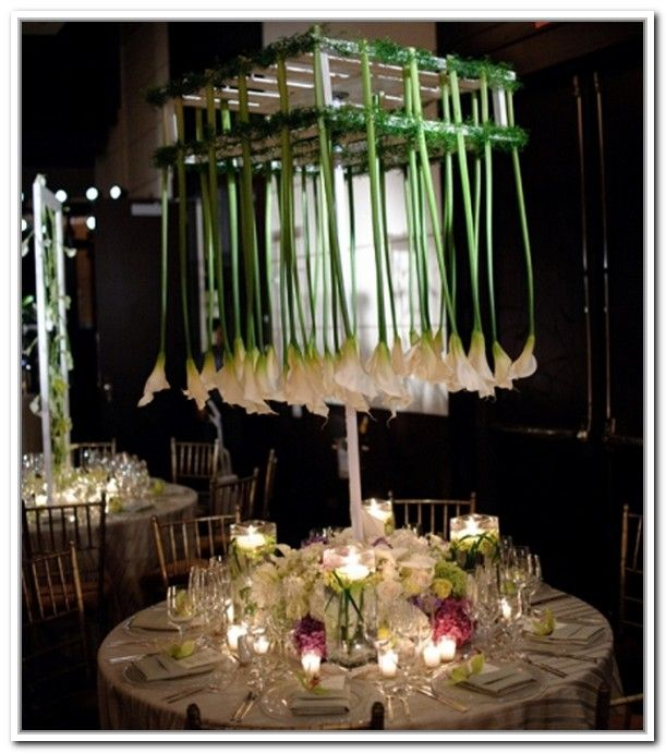 Cool Diy Unusual Wedding Centerpieces With A Round Table