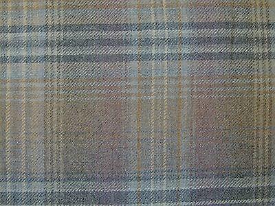 HALF METRE PINK//PURPLE TRADITIONAL WOOL TARTAN TWEED FABRIC WOVEN IN SCOTLAND