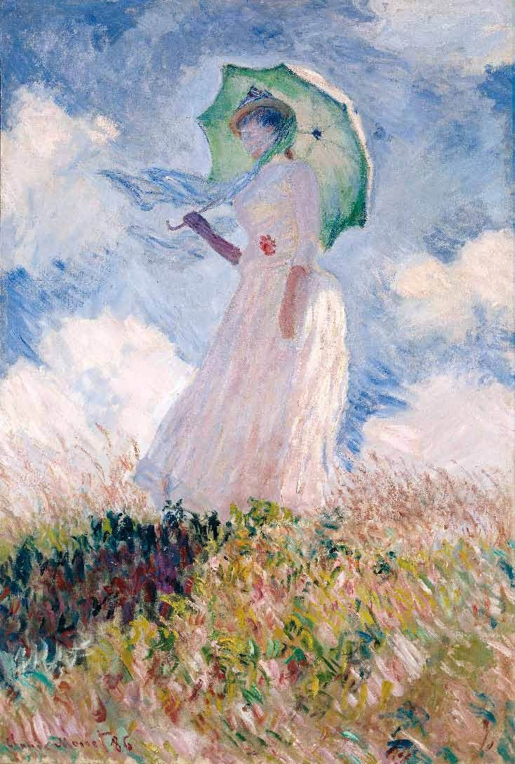 Claude Woman with a Parasol, Turned Left