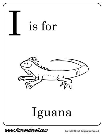 I Is For Iguana Free Kids Coloring Pages Abc Coloring Pages