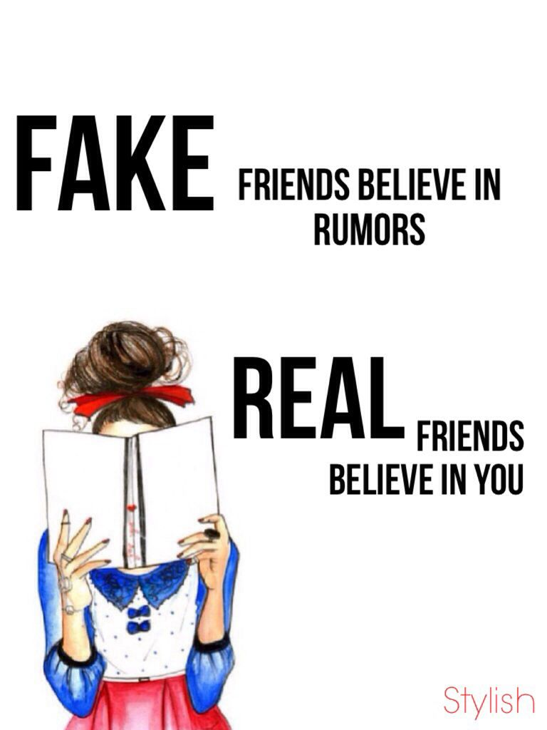 The difference | Fake friends, Real friends, Memes