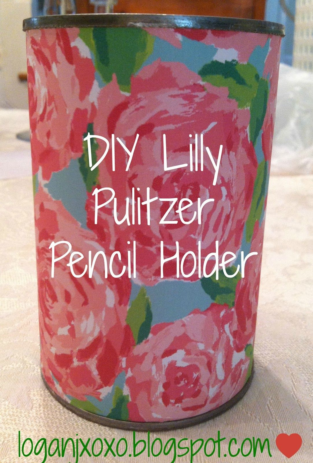 How to make DIY Lilly Pulitzer Pencil holders to use in the office ...