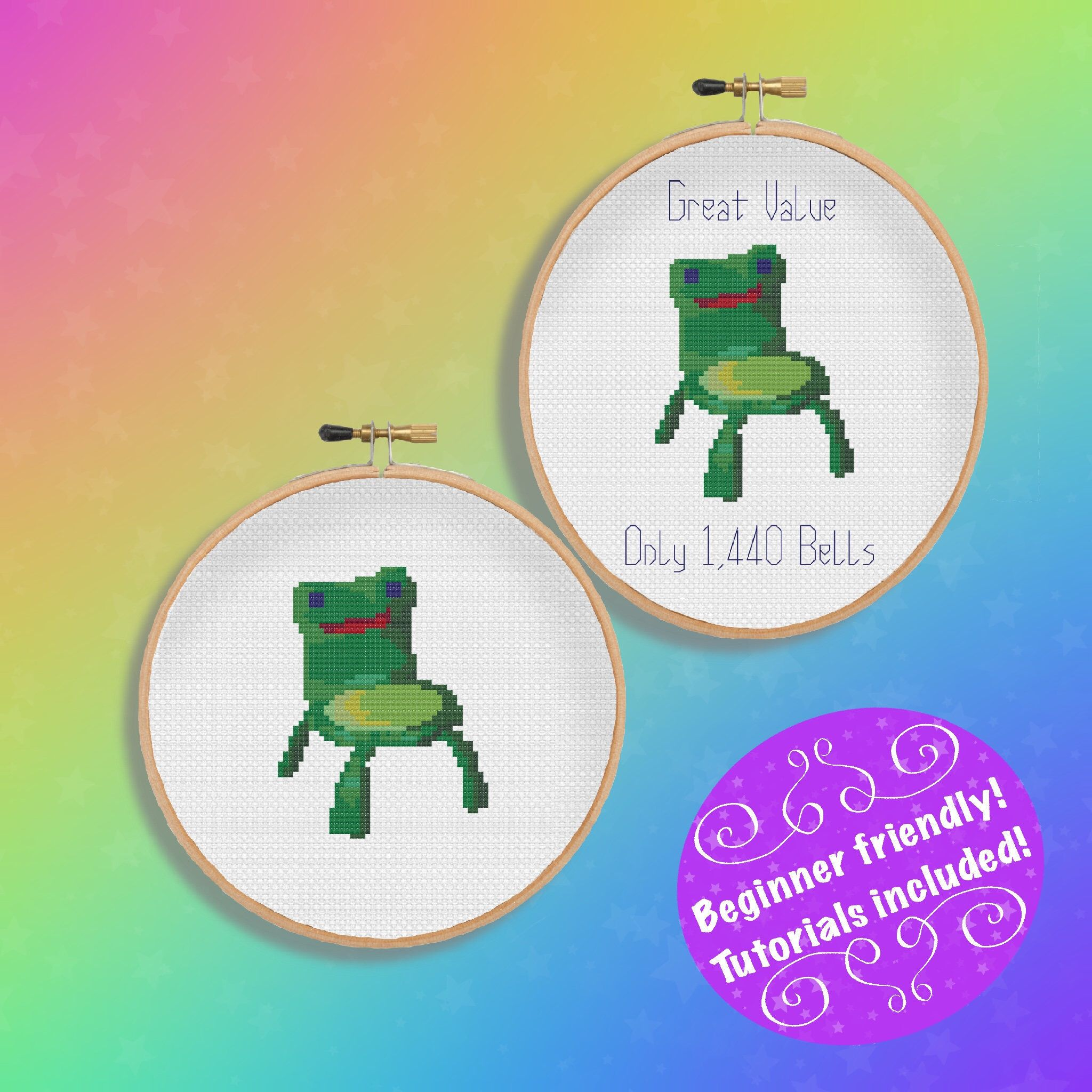 Animal Crossing Froggy Chair Meme Cross Stitch Patterns