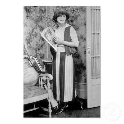 1920s Women's Golf Fashion Poster