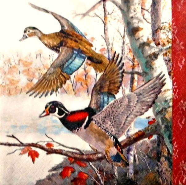4  Servietten 33 - 33 cm. Vogel von Nerikunst auf DaWanda.com