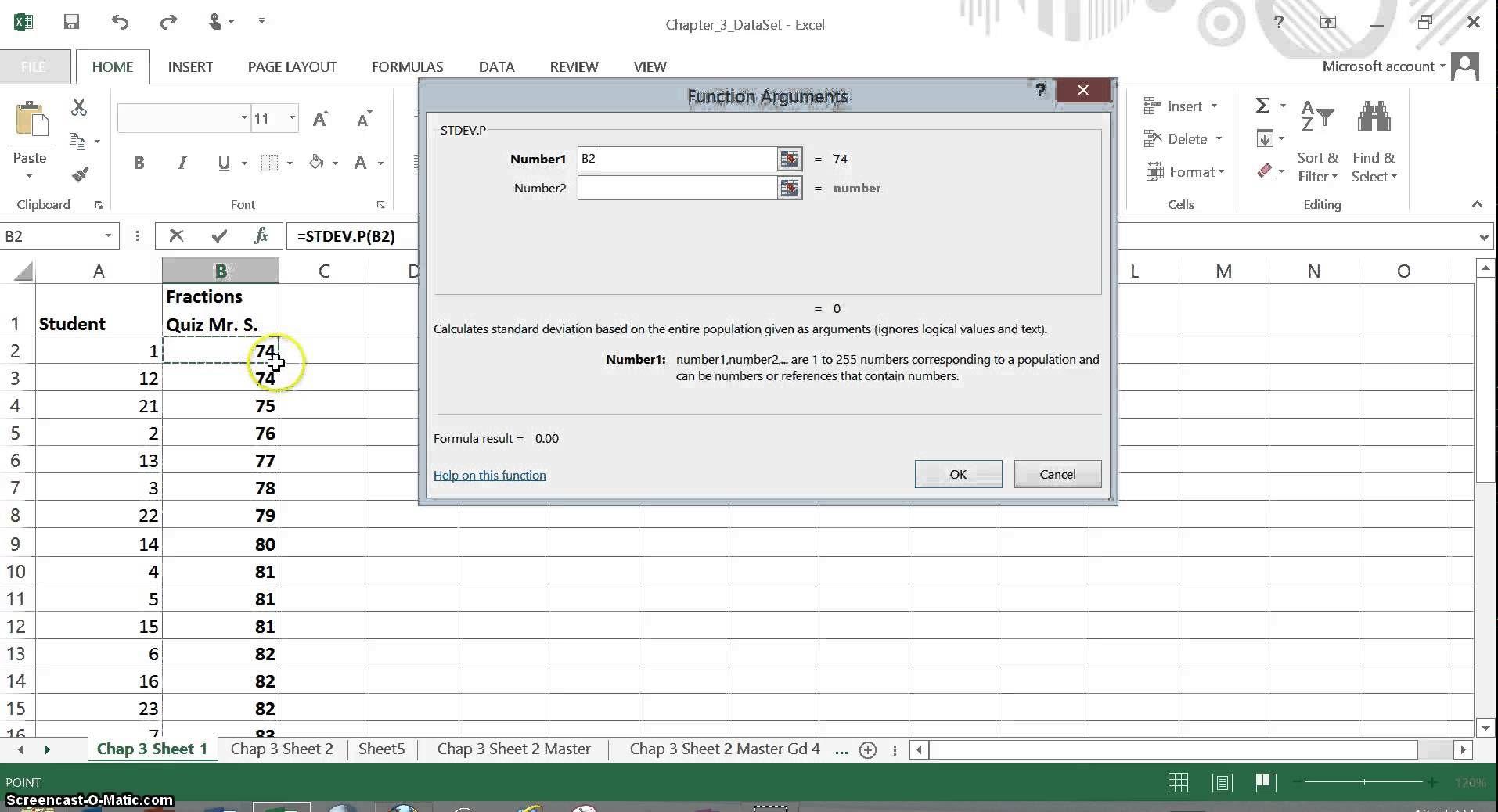 Excel Function For Population Standard Deviation Stdev P