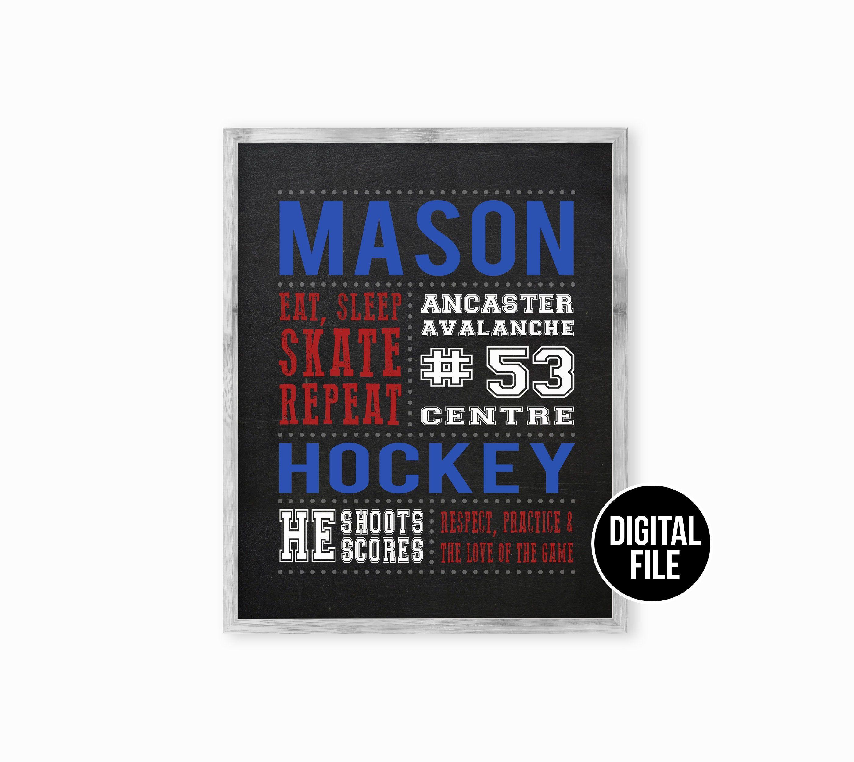 Personalized Hockey Gifts Hockey Coach Gift Hockey Decor Etsy In 2020 Personalized Hockey Gifts Hockey Gifts Hockey Decor