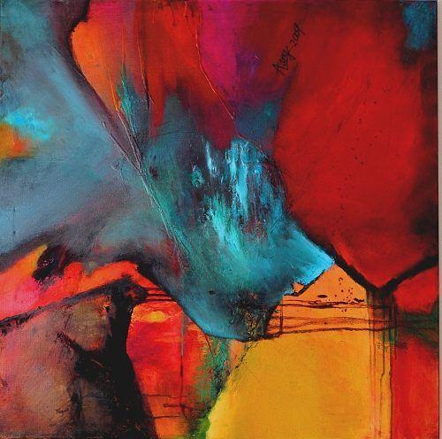 agnes lang fantasy art abstract contemporary abstrakte malerei abstrakt kunst bilder kaufen künstler