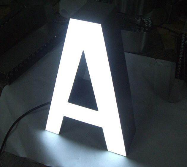 LED Channel Letter A | Wayfindings | Illuminated signs, Channel