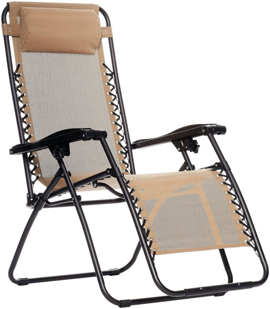 Gravity Outdoor Zero Chair Beige Relaxation Folding w