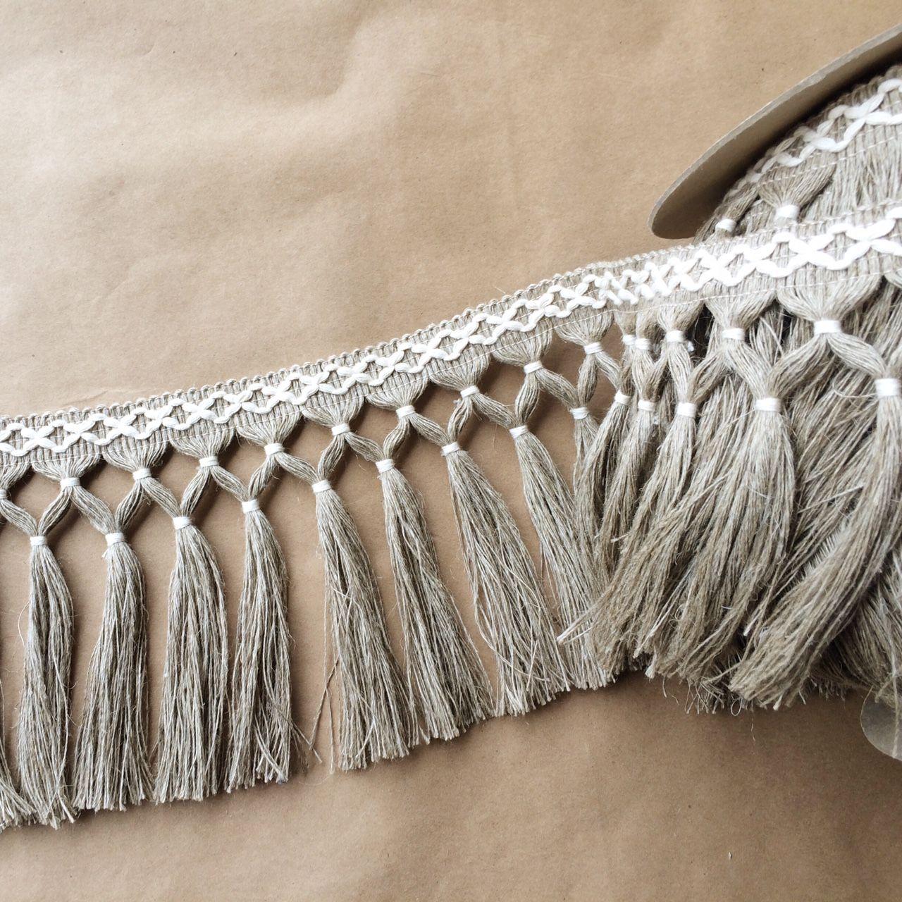 Diamond Double Knot Fringe 6 5 100 Linen Fringe Market