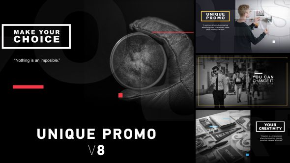 Unique Promo V After Effects Template Display Opener Download - After effects commercial template