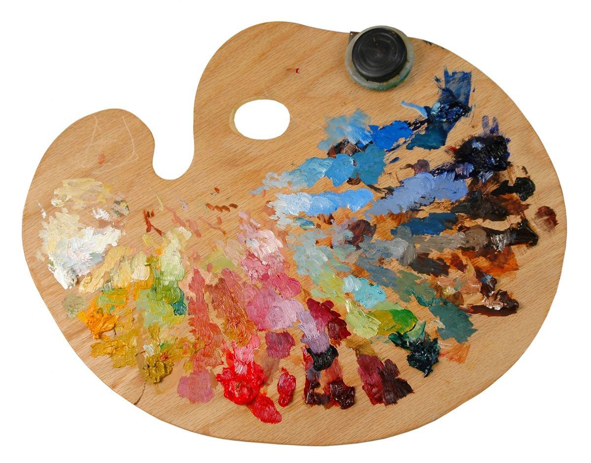 краски и палитра картинки