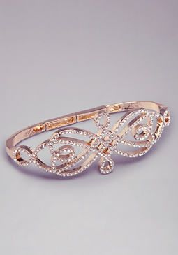 if they sold a ring like this, I would definitely buy it // Filigree Inspired Hand Cuff $29.00 #bebe.com