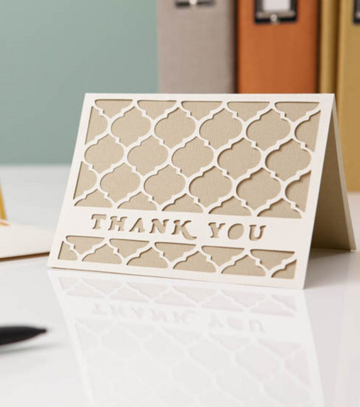 Learn how to make your own thank you cards with cricut create learn how to make your own thank you cards with cricut elegant business card stampin up magicingreecefo Images