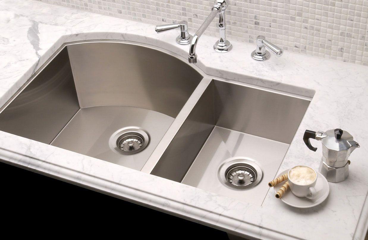 "Vintage 34"" x 19.5"" Undermount Double Bowl Kitchen Sink"