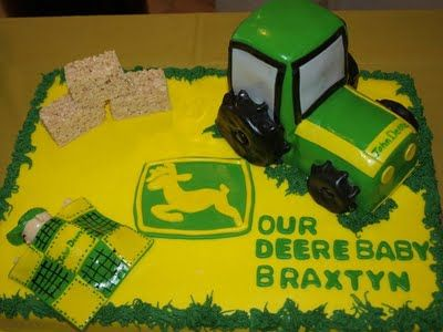 This is one lucky baby its a John Deere Birthday Cake John