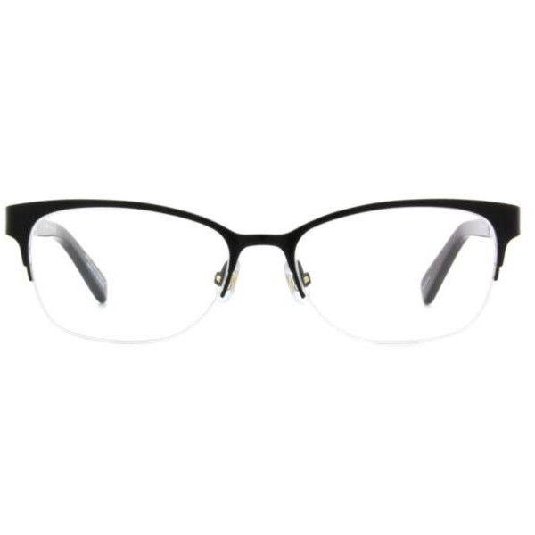 c43d8e801848 Kate Spade New York Valary Women's Eyeglasses ($219) ❤ liked on Polyvore  featuring accessories, eyewear, eyeglasses, black, semi rimless glasses,  kate ...