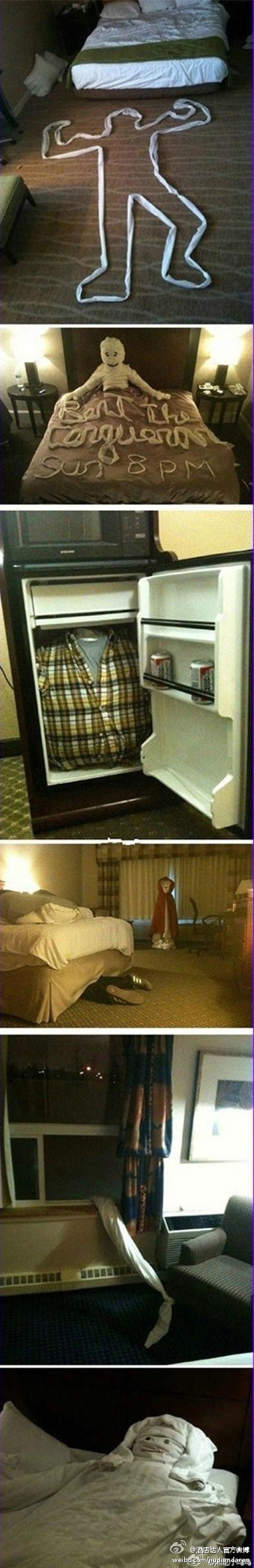 What you can do when check out from hotel... ;)