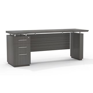 Reversible Pedestal Credenza with Modesty Panel // Modern Office Furniture