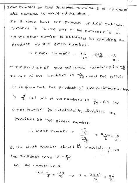 Rational Numbers Rd Sharma Class 8 Solutions Exercise 1 7 Rational Numbers Class 8 Solutions